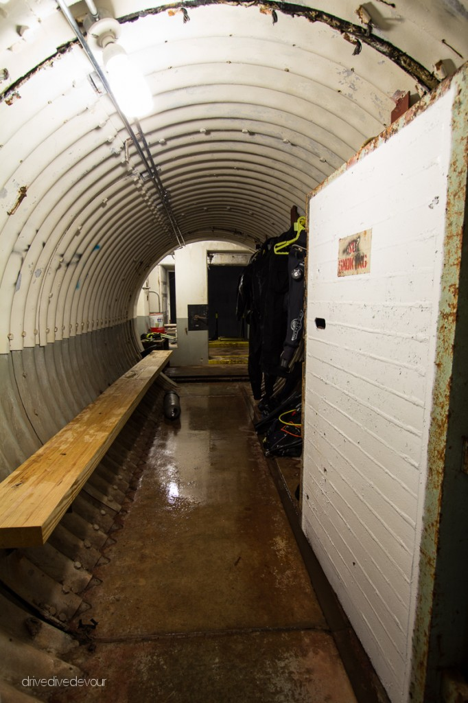 Tunnel from command center to missile silo.