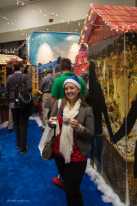Truma got in the holiday spirit changing their booth into a Christkindlmarkt.