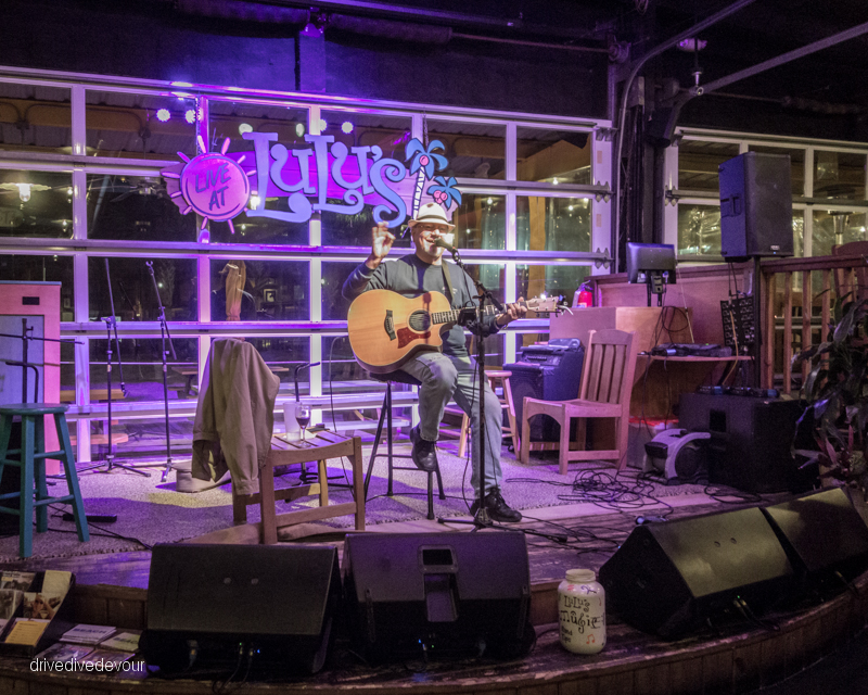 Brent Burns playing live music