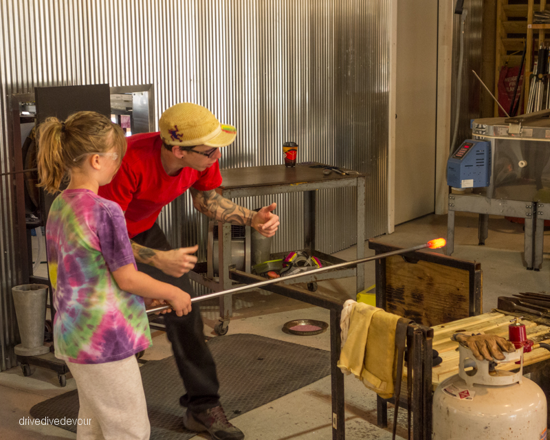 Kids can work with glass, too.