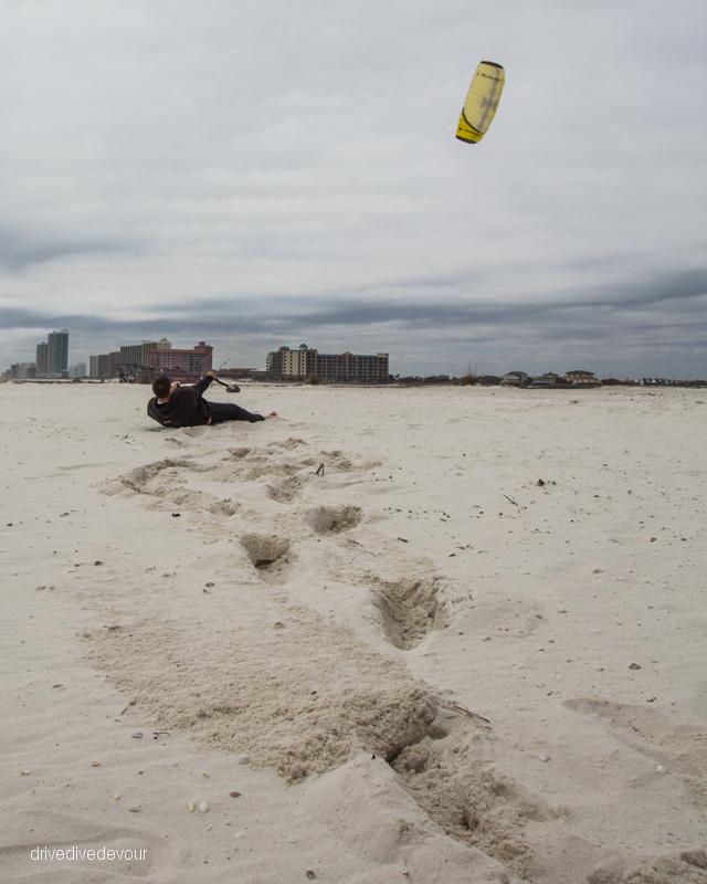Brandon flying his kite