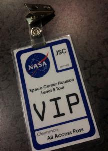NASA VIP tour badge