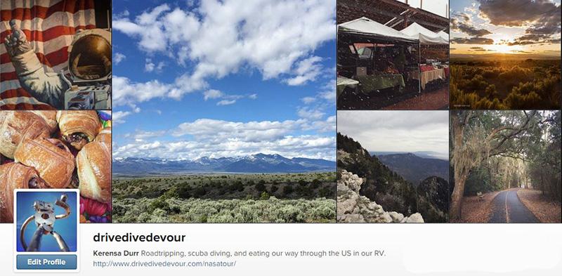 Drive Dive Devour Instagram page