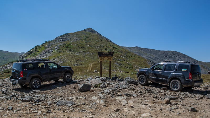 Rex has even made some friends along the way. Here he is at the top of Tin Cup Pass in Colorado.