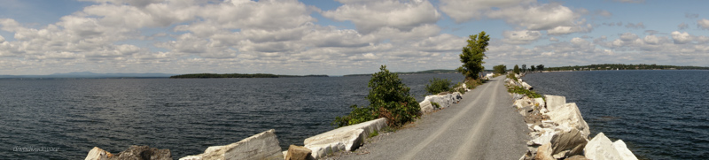 The Island Line Trail through Lake Champlain