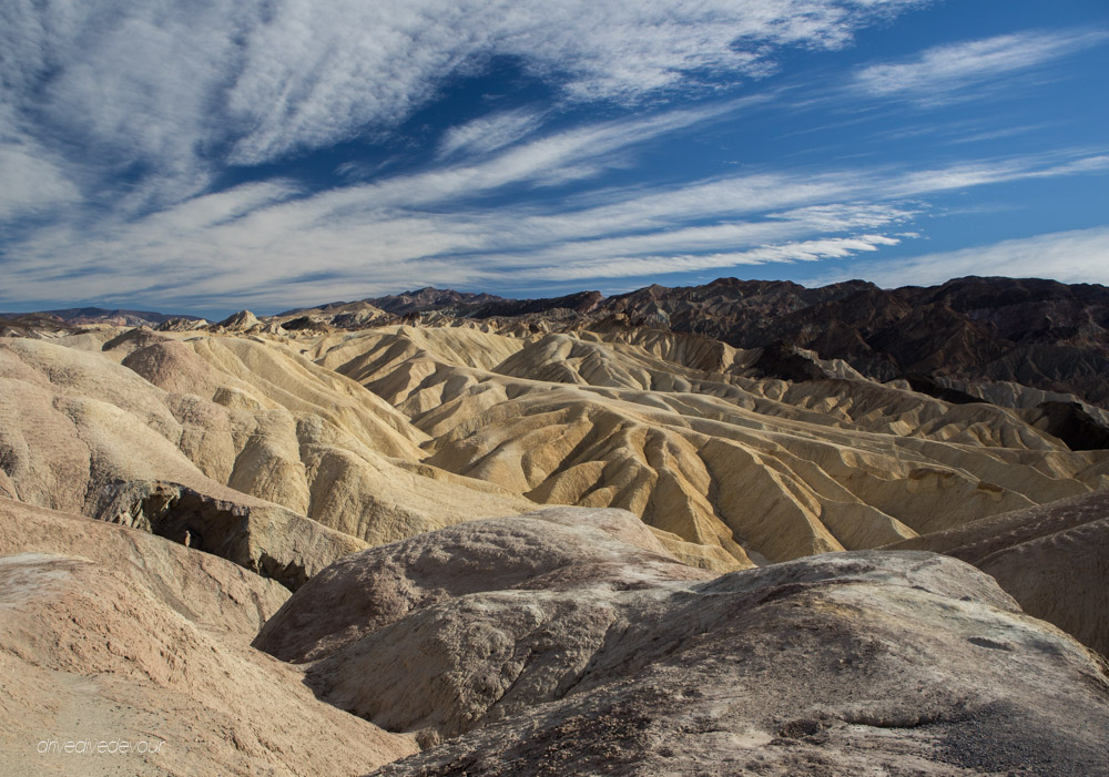 Zabriskie Point Death Valley badlands