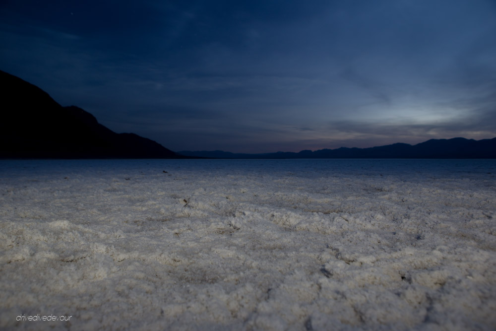 Badwater Basin at night