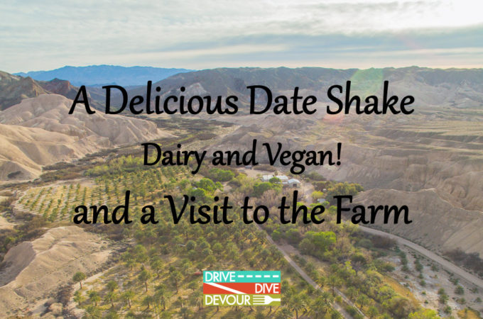 A Delicious Date Shake (Dairy and Vegan) and a Visit to the Farm