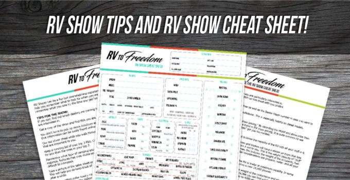 RV Show Tips and Downloadable Cheat Sheet to Help with Your Big Purchase