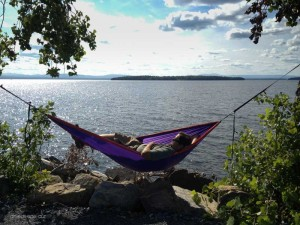 Hammock time over Lake Champlain